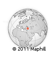 Outline Map of Mersin, rectangular outline