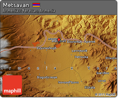 Free Physical Map of Metsavan