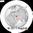 Outline Map of Xaçmaz, rectangular outline