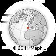 Outline Map of Madrigal De Las Altas Torres, rectangular outline