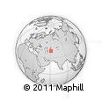 Outline Map of Xorazm Region, rectangular outline