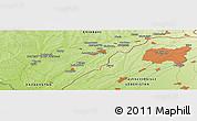 Physical Panoramic Map of Saryagash
