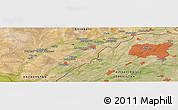 Satellite Panoramic Map of Saryagash