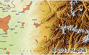 """Physical Map of the area around 41°16'52""""N,69°46'30""""E"""
