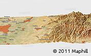 Satellite Panoramic Map of Yangiobod