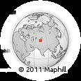 Outline Map of Karakol, rectangular outline