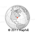 Outline Map of Port Jervis, rectangular outline