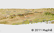 Satellite Panoramic Map of Naryn