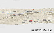 Shaded Relief Panoramic Map of Naryn