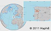 Gray Location Map of Vila Real