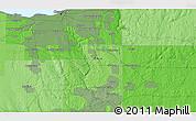Political 3D Map of Mount Pleasant