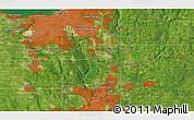 Satellite 3D Map of Mount Pleasant