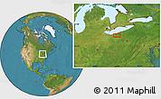 Satellite Location Map of Mount Pleasant