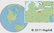 Savanna Style Location Map of Mount Pleasant