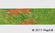 Satellite Panoramic Map of Mount Pleasant