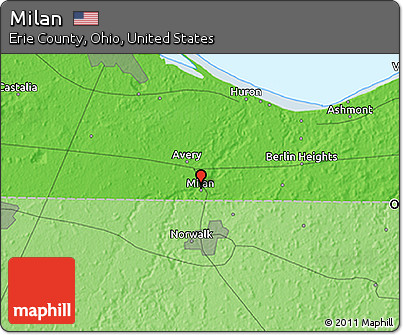 Free Political D Map Of Milan - Milon ohio on the us map