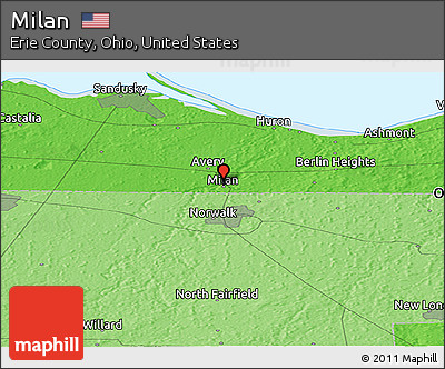 Free Political Panoramic Map Of Milan - Milon ohio on the us map