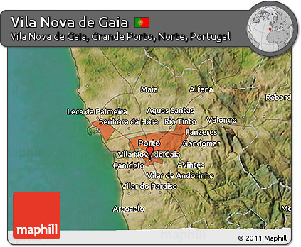 Free Satellite 3D Map of Vila Nova De Gaia