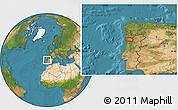 Satellite Location Map of Porto