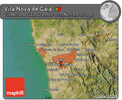 Free Satellite Map of Vila Nova De Gaia