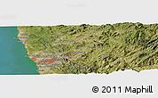 Satellite Panoramic Map of Porto