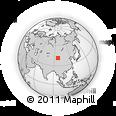 Outline Map of Jianquanzi, rectangular outline