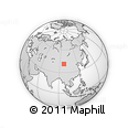 Outline Map of Jiangjuntai, rectangular outline