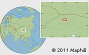 Savanna Style Location Map of Luotuojing
