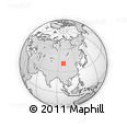 """Outline Map of the Area around 41° 16' 52"""" N, 98° 40' 30"""" E, rectangular outline"""