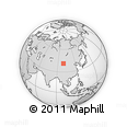 """Outline Map of the Area around 41° 16' 52"""" N, 99° 31' 30"""" E, rectangular outline"""