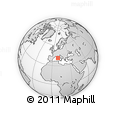 Outline Map of La Maddalena, rectangular outline