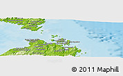 """Physical Panoramic Map of the area around 41°16'52""""N,9°25'30""""E"""