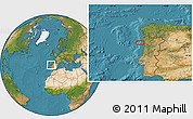 """Satellite Location Map of the area around 41°16'52""""N,9°16'30""""W"""