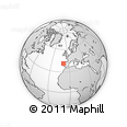 """Outline Map of the Area around 41° 16' 52"""" N, 9° 16' 30"""" W, rectangular outline"""