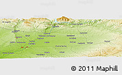 Physical Panoramic Map of Juneda