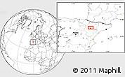 Blank Location Map of Zaragoza