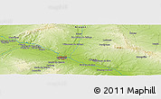 Physical Panoramic Map of Grañén