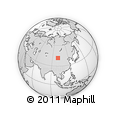 Outline Map of Saihan Torai, rectangular outline