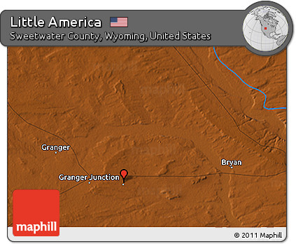 Little America Wyoming Map.Free Physical 3d Map Of Little America