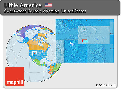Little America Wyoming Map.Free Political Location Map Of Little America