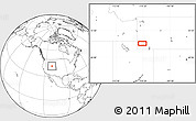 """Blank Location Map of the area around 41°43'14""""N,110°25'30""""W"""