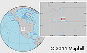 """Gray Location Map of the area around 41°43'14""""N,110°25'30""""W"""