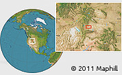 """Satellite Location Map of the area around 41°43'14""""N,110°25'30""""W"""