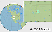 """Savanna Style Location Map of the area around 41°43'14""""N,110°25'30""""W"""