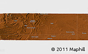 """Physical Panoramic Map of the area around 41°43'14""""N,110°25'30""""W"""