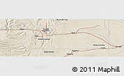 """Shaded Relief Panoramic Map of the area around 41°43'14""""N,110°25'30""""W"""
