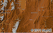 """Physical Map of the area around 41°43'14""""N,111°16'30""""W"""