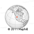 """Outline Map of the Area around 41° 43' 14"""" N, 111° 16' 30"""" W, rectangular outline"""