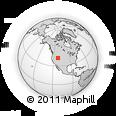 Outline Map of Amalga, rectangular outline