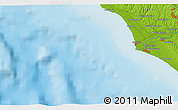 """Physical 3D Map of the area around 41°43'14""""N,11°58'29""""E"""